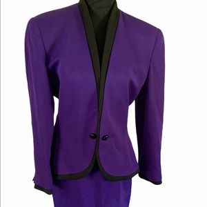Vintage Christian Dior wool skirt suit size 8